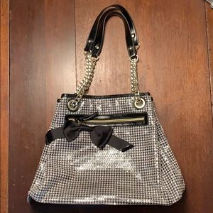 Besty Johnson Sequin Houndstooth Purse